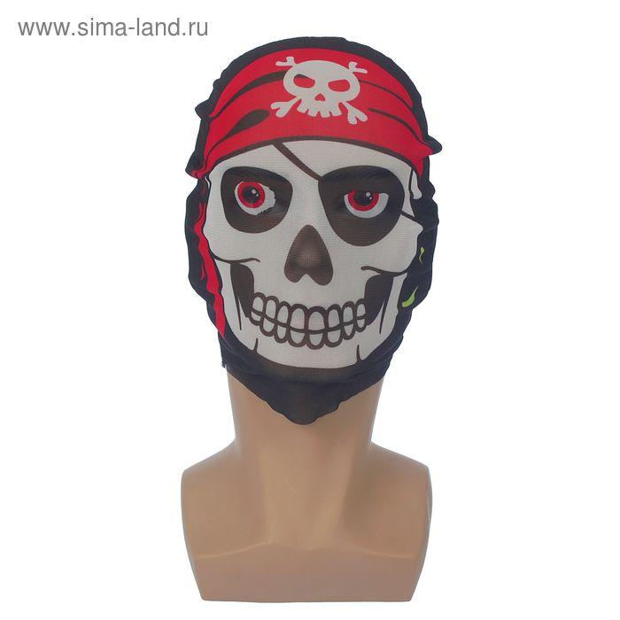 """Карнавальная маска текстиль """"Череп в бандане"""""""