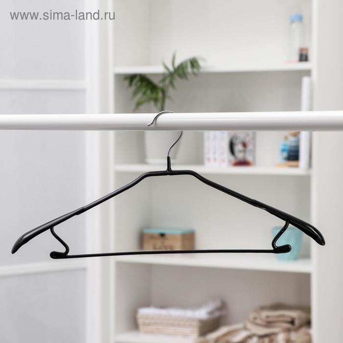 The hanger anti-slip, wide shoulders size 46-48, black