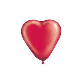 """Шар латексный 10"""" «Сердце», кристалл, набор 50 шт., цвет красный"""