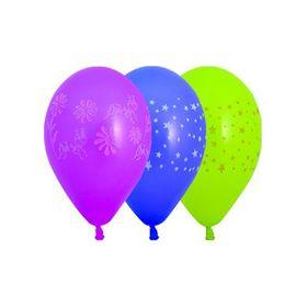 """Шар латексный 10"""" «День рождения» с рисунком, пастель, набор 100 шт., цвета МИКС"""