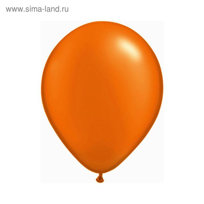 """Шар латексный 12"""", пастель, набор 100 шт., цвет оранжевый"""