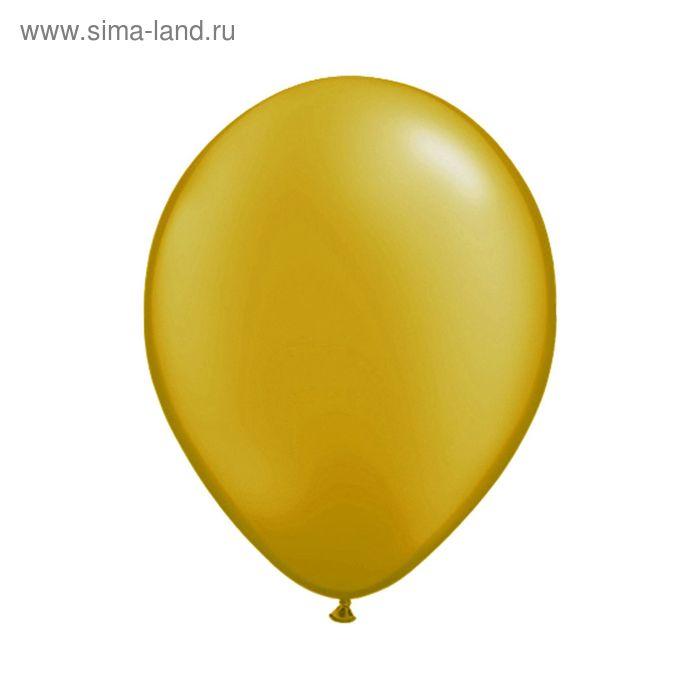 """Шар латексный 12"""", металл, набор 100 шт., цвет золотой"""