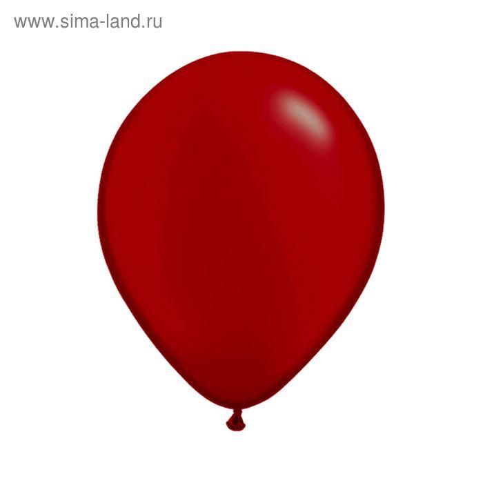 """Шар латексный 5"""", пастель, набор 100 шт., цвет красный"""