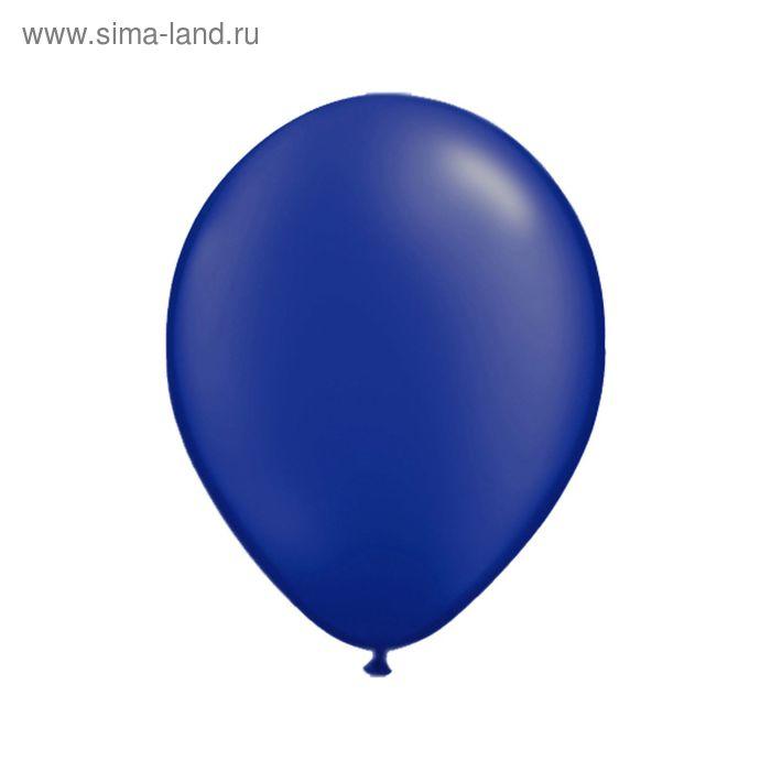 """Шар латексный 12"""", металл, набор 100 шт., цвет синий"""