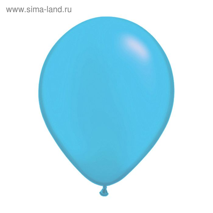 """Шар латексный 12"""", пастель, набор 100 шт., цвет голубой"""