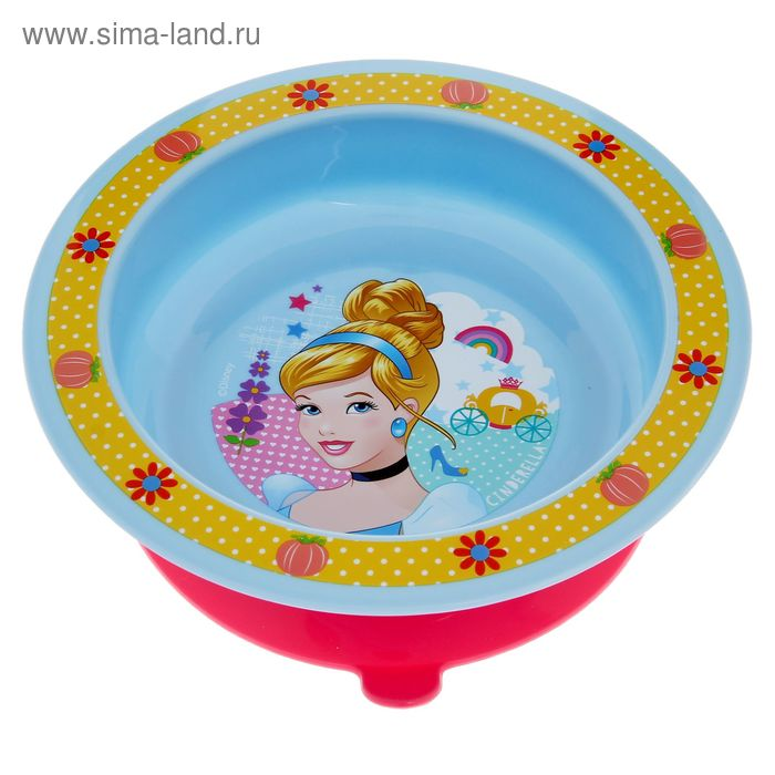 """Тарелка """"Принцессы"""" на присоске, от 6 месяцев, МИКС"""