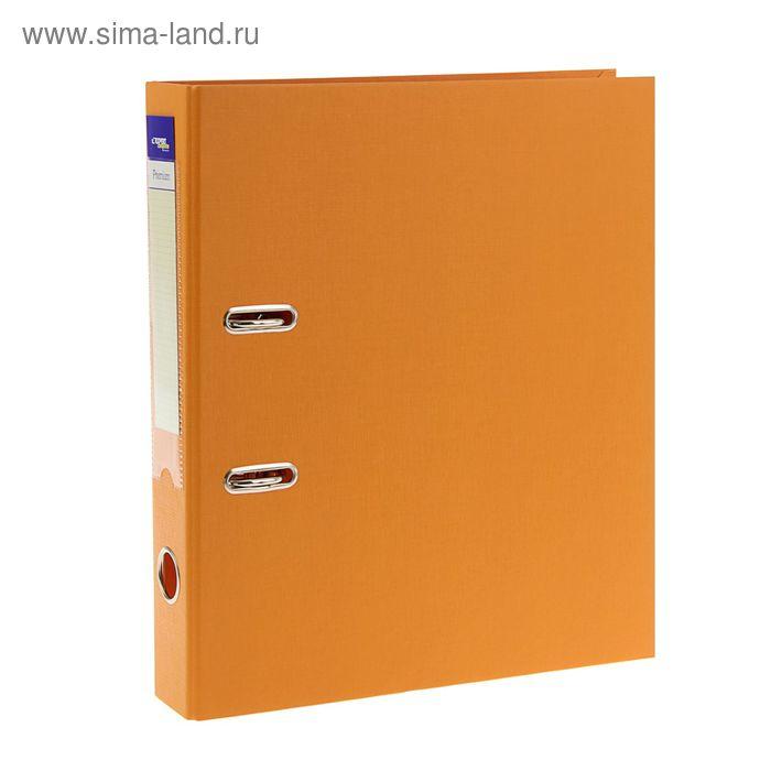 Папка-регистратор А4, 50мм PVC Premium, разборный, оранжевый