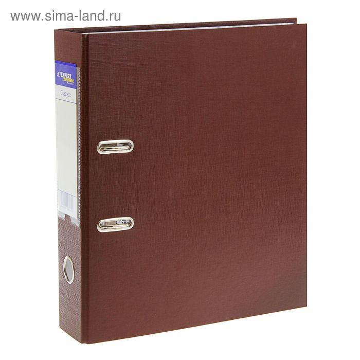 Папка-регистратор А4, 75мм PVC Classic, разборный, кофейный