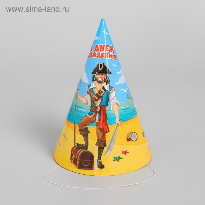 "The cap paper ""happy Birthday!"", pirate, set of 6 PCs, 16 cm"