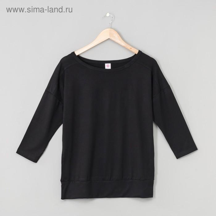 Джемпер женский, цвет чёрный, рост 158-164 см, размер 48 (арт. Р808039)