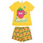 Пижама для девочки, рост 98-104 см (28), цвет жёлтый