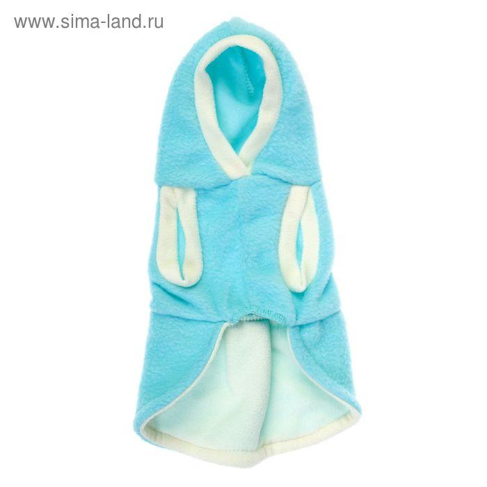 Пальто флисовое с капюшоном,  размер S (ДС 24 см, ОШ 26 см, ОГ 32 см) микс