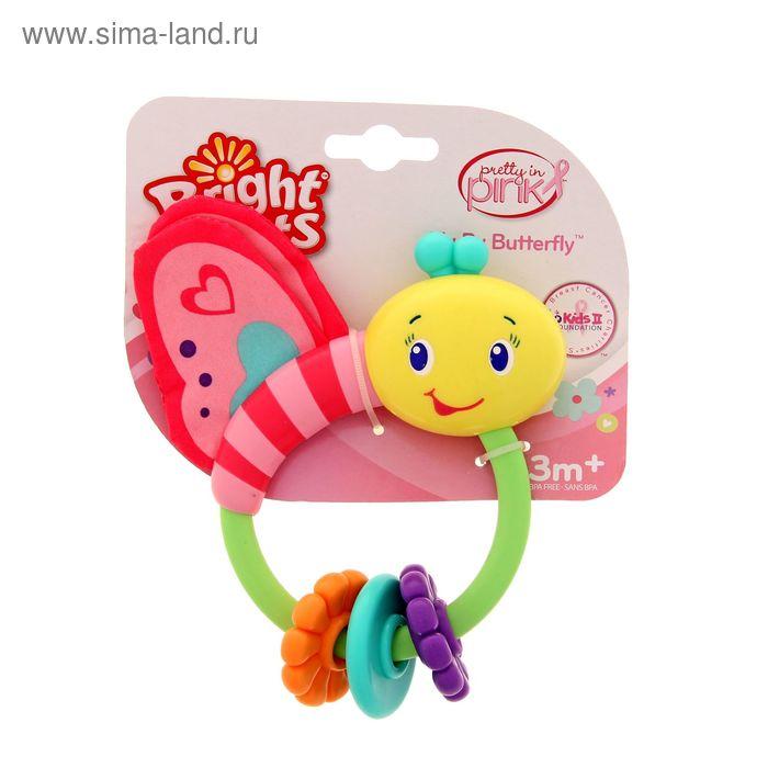 Развивающая игрушка-погремушка «Розовая бабочка»