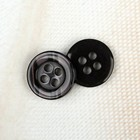 Button, 4 puncture, 11 mm, color dark brown