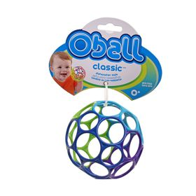 Развивающая игрушка «Мячик «Oball» от +0 мес. цвет МИКС, 10см