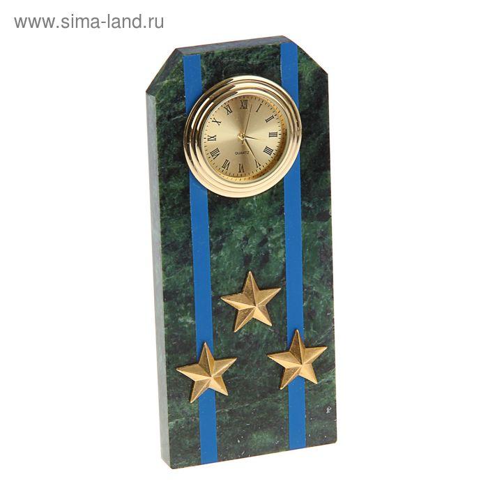 """Часы """"Погон-полковник"""" с синими просветами  из оракала 60 х 45 х 150 мм"""