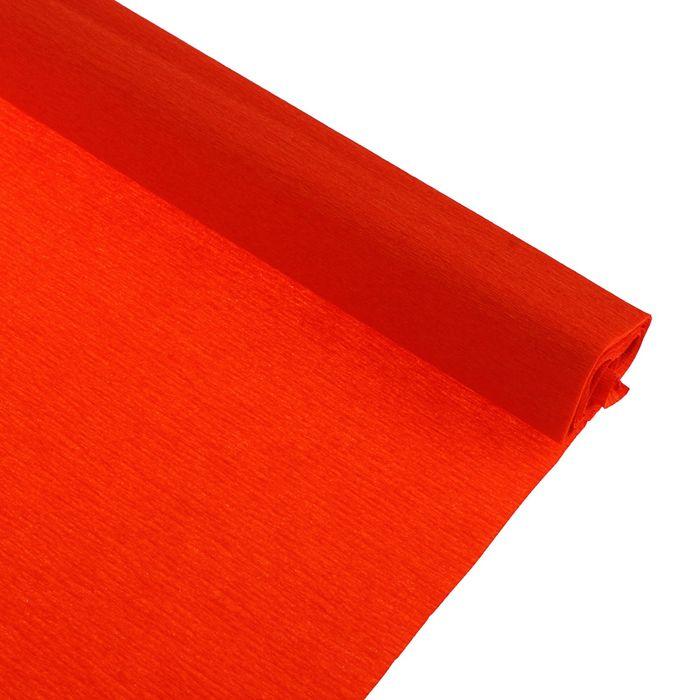 Бумага крепированная 50*250см, 32 г/м2, темно-оранжевая, в рулоне