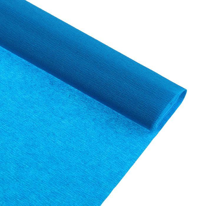 Бумага крепированная 50*250см, 32 г/м2, бирюзовая, в рулоне