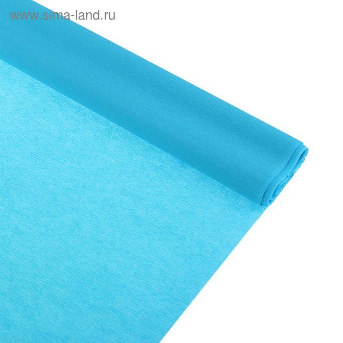 Бумага крепированная 50*250см, 32 г/м2, светло-голубая, в рулоне