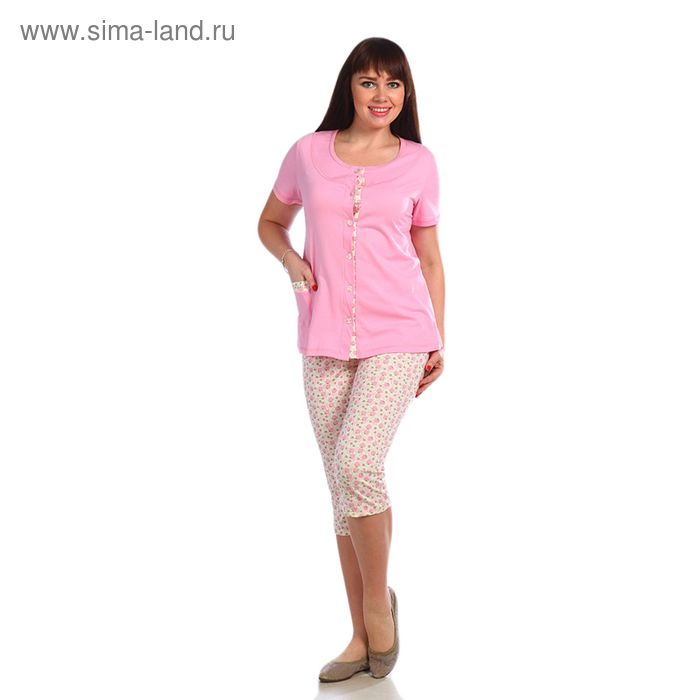 Пижама женская, размер 44, цвет розовый 221ХГ1669
