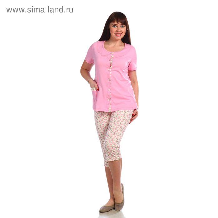 Пижама женская, размер 52, цвет розовый 221ХГ1669