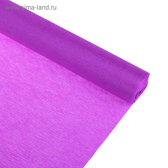 Бумага крепированная 50*250см, 32 г/м2, сиреневая, в рулоне