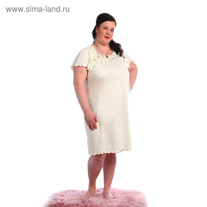 Сорочка женская, размер 58, цвет молочный 244ХГ1693