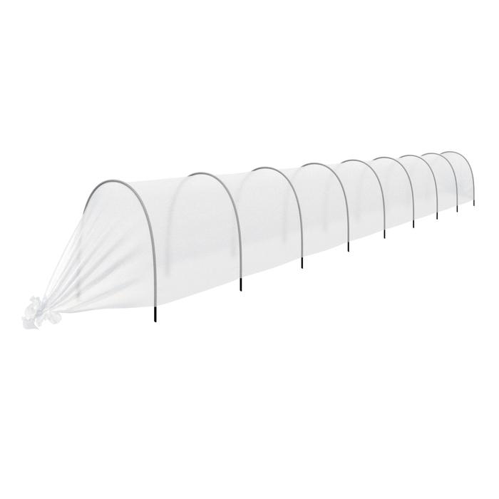 Парник прошитый «уДачный», длина 8.5 м, 9 дуг из пластика, дуга L = 2,4 м, d = 16 мм, укрывной материал 35 г/м²