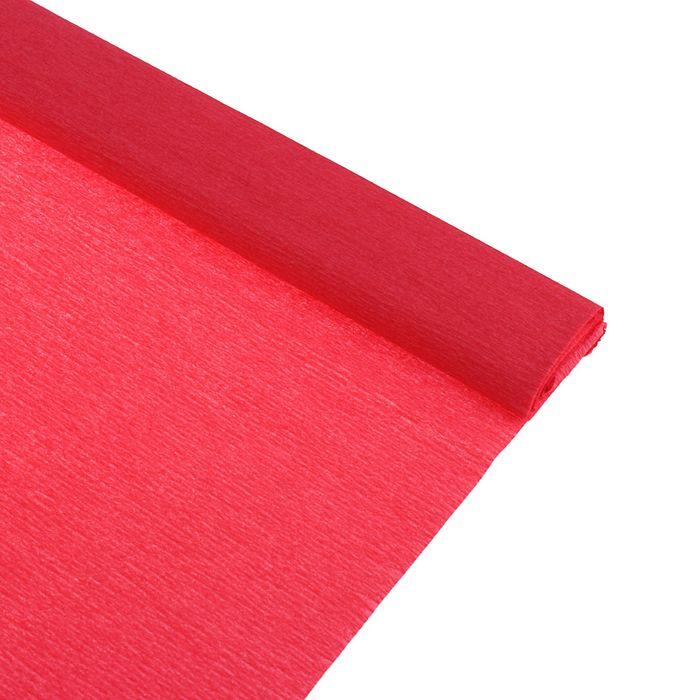 Бумага крепированная 50*250см, 32 г/м2, клубничная, в рулоне