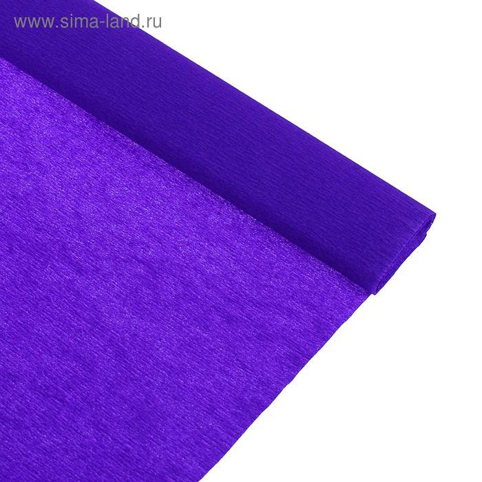 Бумага крепированная 50*250см, 32 г/м2, фиолетовая, в рулоне