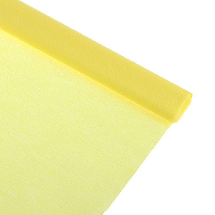 Бумага крепированная 50*250см, 32 г/м2, лимонная, в рулоне