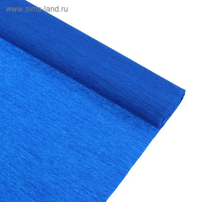 Бумага крепированная 50*250см, 32 г/м2, синяя, в рулоне