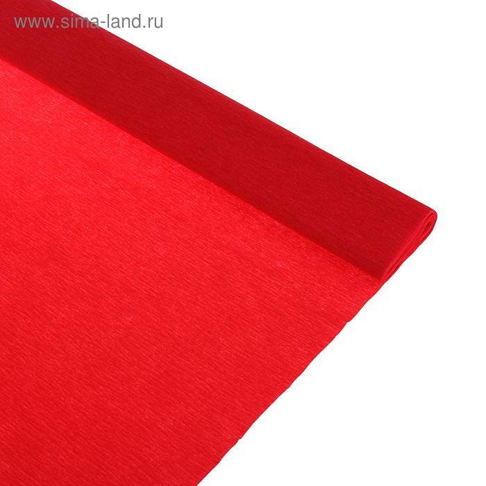 Бумага крепированная 50*250см, 32 г/м2, красная, в рулоне