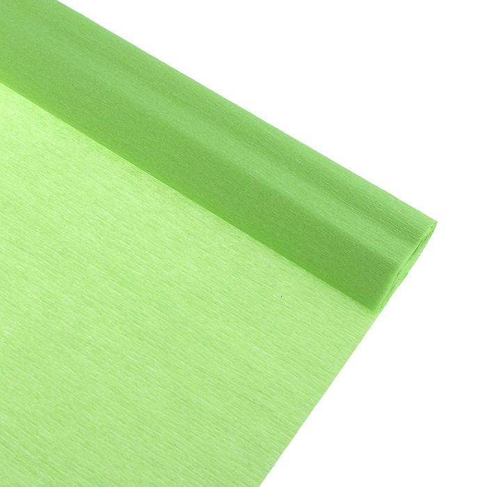 Бумага крепированная 50*250см, 32 г/м2, светло-салатовая, в рулоне