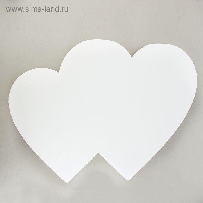 "Заготовка для творчества ""Сердце двойное сплошное""Ю 55 х 5 см"