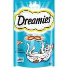 Лакомство Dreamies для кошек, лосось, 60 г