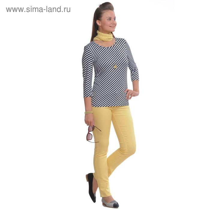 Блуза женская, размер 48, рост 164 см, цвет черно-белый 3941