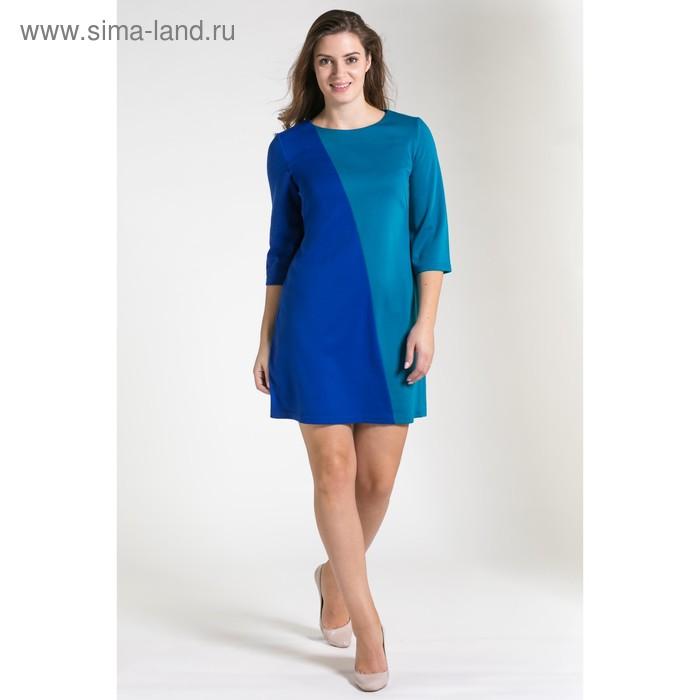 Платье женское, размер 48, рост 164 см, цвет бирюзовый/синий 4552