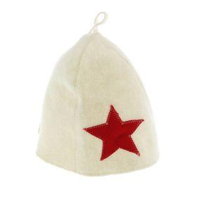 Bath cap with a star, felt