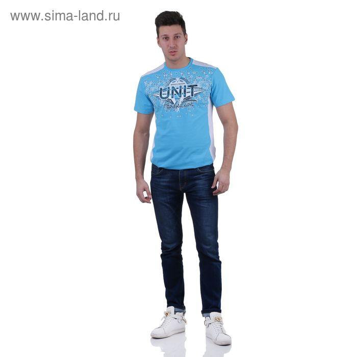 Футболка мужская, цвет голубой, размер XL, супрем, фуллайкра (арт. 865)