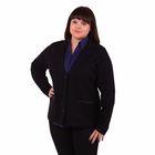 Жакет женский 51200291, цвет чёрный, размер 58 (5XL), рост 170