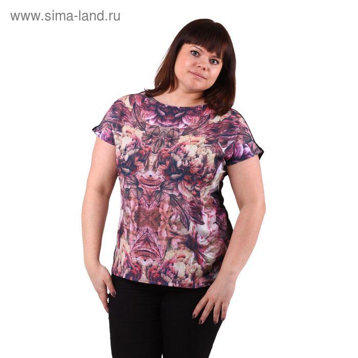 Блузка-топ женская 51100276 С+, размер 50(XL), рост 170см, цвет бордо