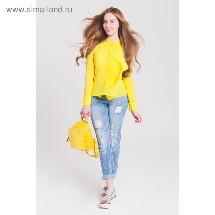 Блузка женская 40200260049, размер 42 (XS), рост 170 см, цвет жёлтый