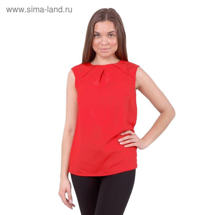 Блузка женская, размер 50 (XL), рост 170 см, цвет красный (арт. 10200270005 С+)