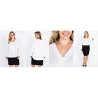 Блузка женская 51900370 цвет белый, р-р 50(XL), рост 170