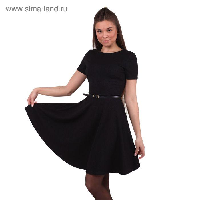 Платье женское 10200200035, размер 40 (XXS), рост 170 см, цвет черный