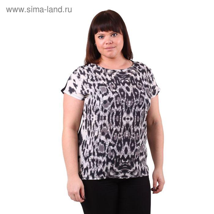 Блузка-топ женская 51100276 С+, размер 58(5XL), рост 170см, цвет чёрный