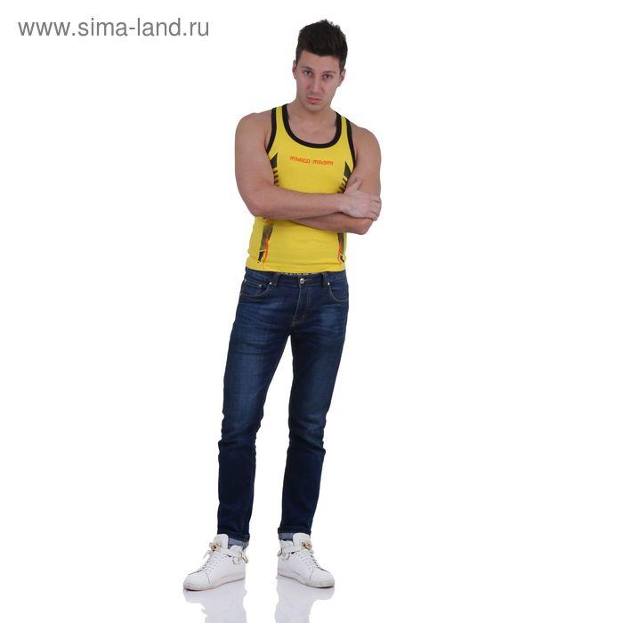 Майка мужская, цвет жёлтый, размер XL, стрейч (арт. 251-06)