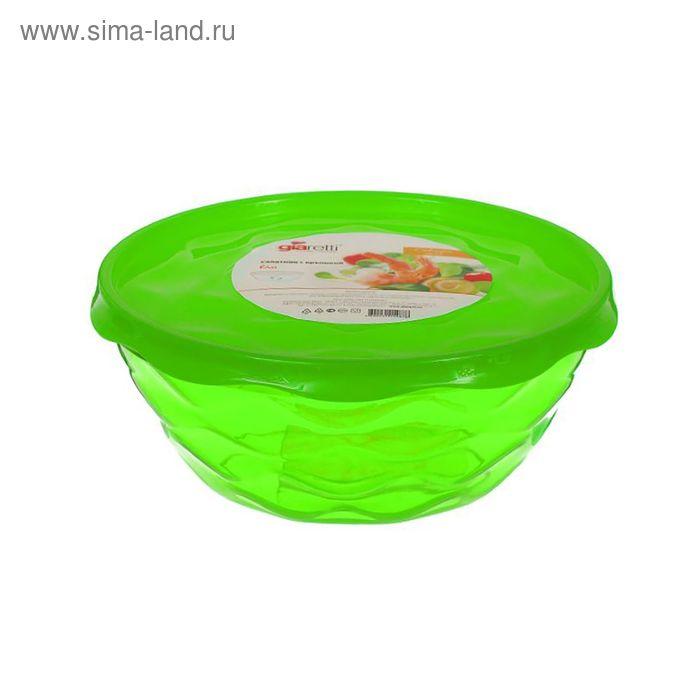Салатник с крышкой 4 л Riva, цвет МИКС