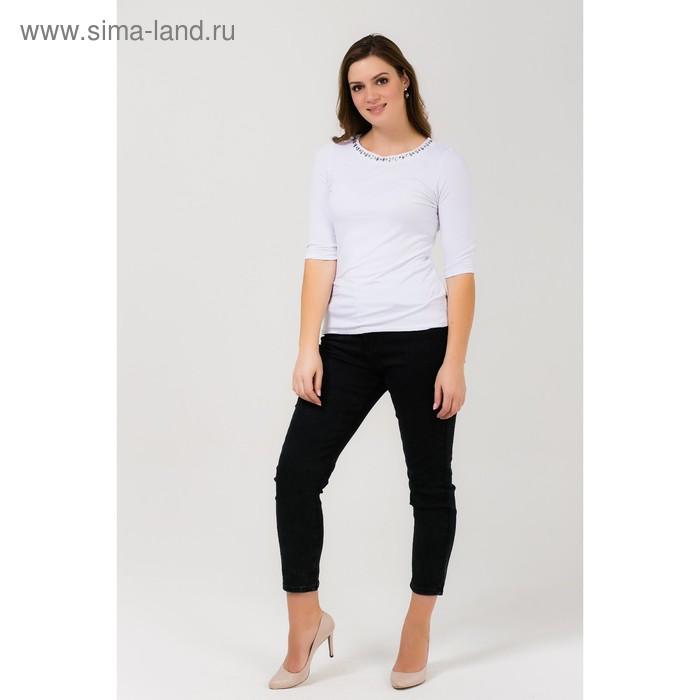 Джемпер женский 51100275 С+, размер 58 (5XL), рост 170 см, цвет белый